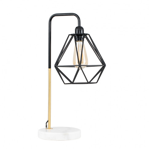 Talisman Gold Table Lamp With Black Diablo Shade