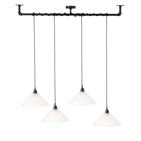 Luiggi Steampunk 4 Way Ceiling Light In Black With T...