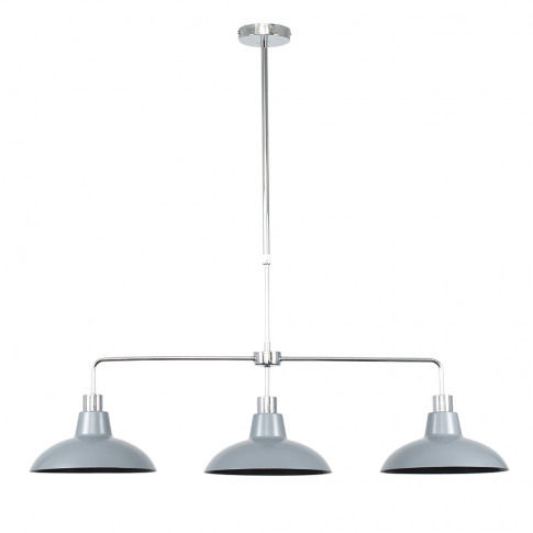 Huckleberry Chrome 3 Way Over Table Light With Silve...