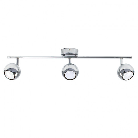 Mini Retro Eyeball 3-Way Ceiling Spotlight In Chrome