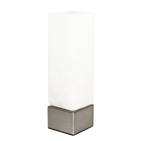 Benito Satin Nickel Rectangular Touch Table Lamp