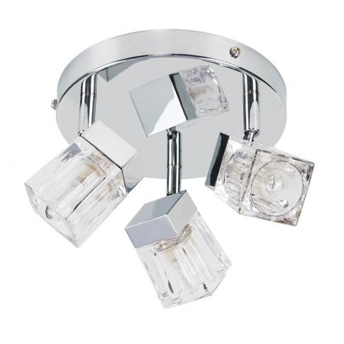 3-Way Ip44 Ice Cube Bathroom Spotlight In Chrome