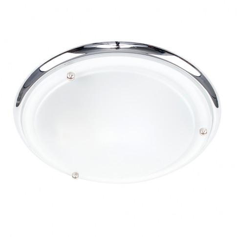 Ip44 Flush Ceiling Light In Chrome