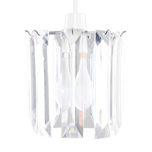 Icicle Pendant Shade In Chrome And Clear