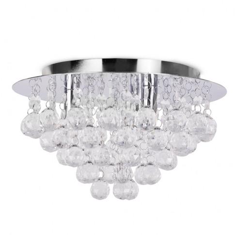 Nakita Droplet Flush Ceiling Light In Chrome