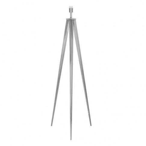 Modern Large Brushed Chrome Metal Tripod Floor Lamp ...