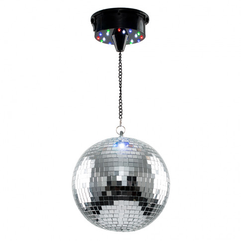 8 Rotating Battery Operated Disco Mirror Ball Ceilin...