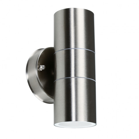 Gainsford Ip44 Up/Down Wall Light In Brushed Chrome