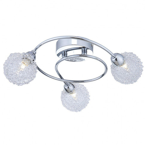 Alambre 3 Way Swirl Ceiling Light In Chrome