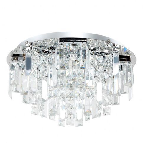 Prague 5 Way Lead Crystal Ceiling Light In Chrome