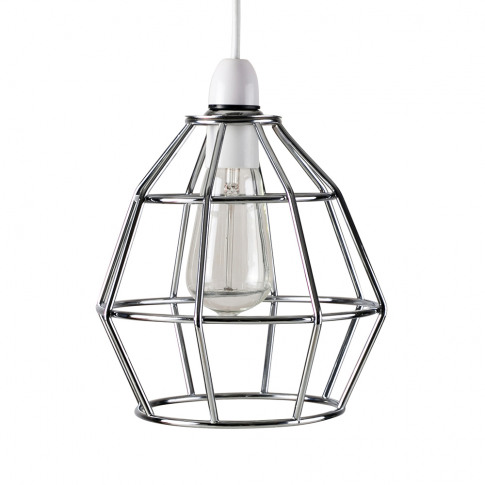 Angus Basket Pendant Shade In Chrome