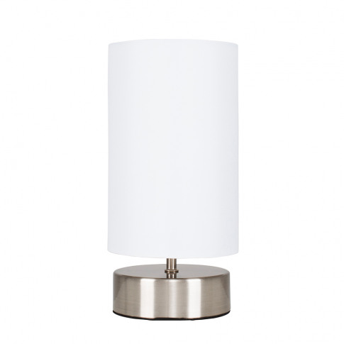 Francis Brushed Chrome Touch Table Lamp With White S...