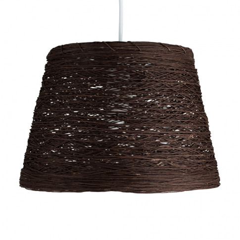 Jaap Twine Tapered Pendant Shade In Brown