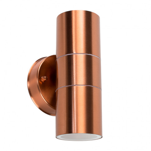 Trenley Ip44 Up/Down Wall Light In Copper
