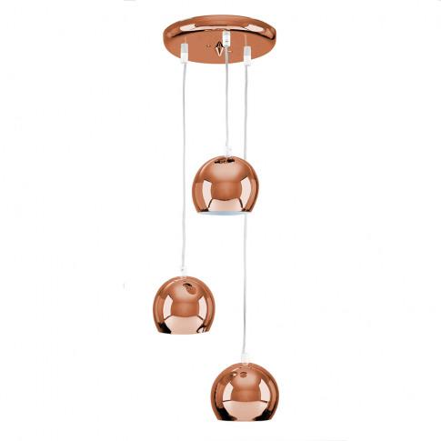 Retro 3-Way Eyeball Ceiling Light In Copper