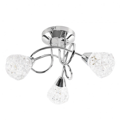 Astley 3 Way Cross Over Ceiling Light In Chrome