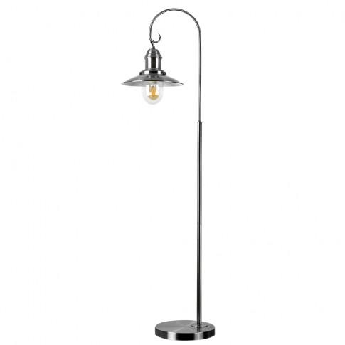 Fisherman Style Floor Lamp In Satin Nickel