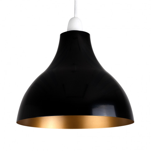 Dexter Black And Gold Retro Pendant Shade