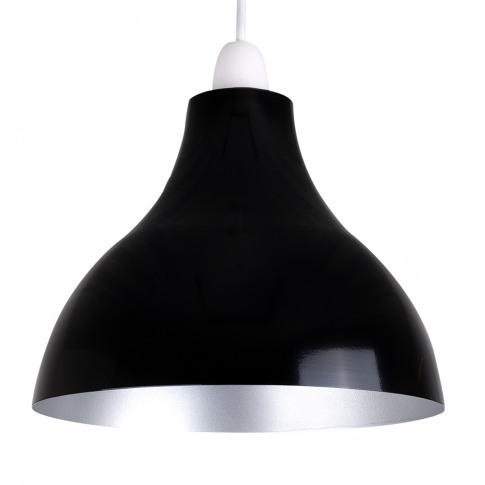 Dexter Black And Silver Retro Pendant Shade