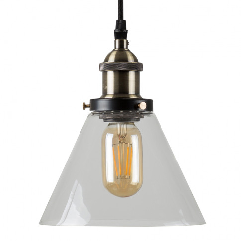 Norton Steampunk Electric Pendant With Clear Glass S...