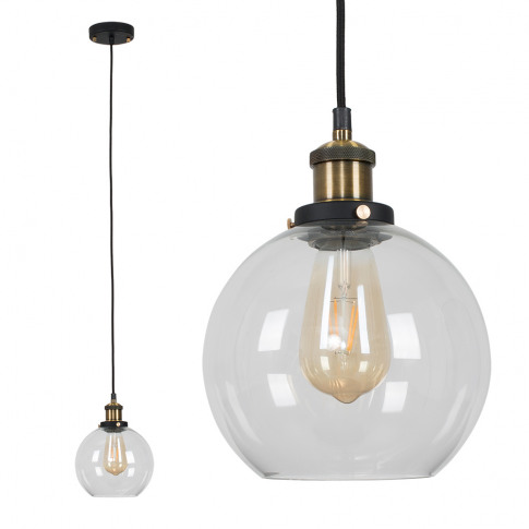 Sheridan Steampunk Electric Pendant With Clear Glass...