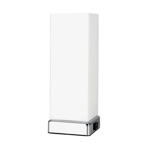 Lazio Chrome And Frosted Glass Rectangular Touch Tab...