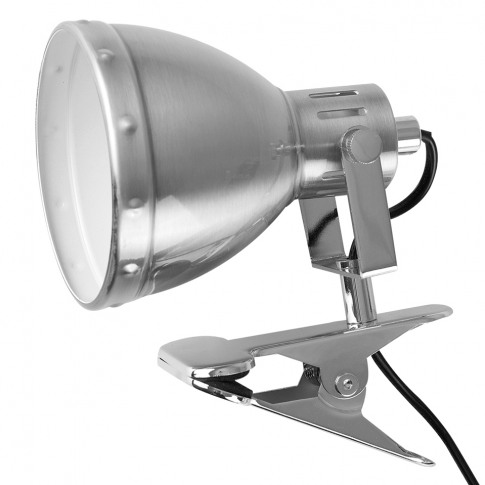 Portishead Brushed Chrome Clip-On Spotlight Lamp