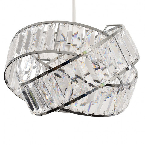 Hudson Pendant Shade In Chrome And Clear