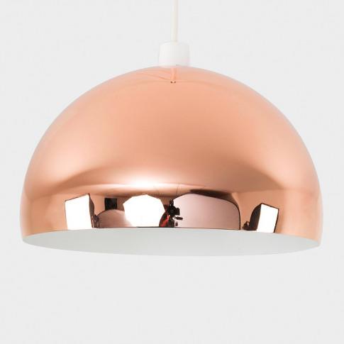 Curva Pendant Shade In Copper