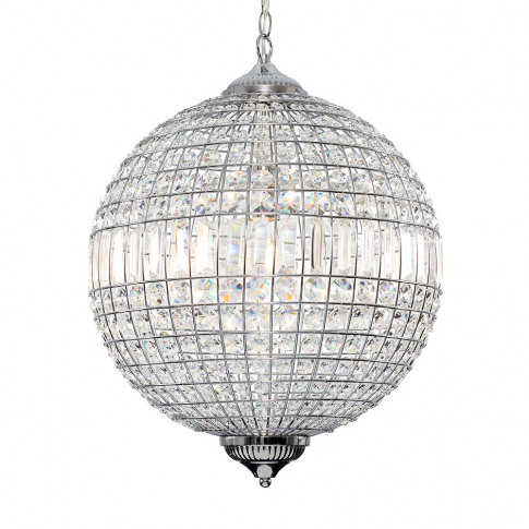 Iconic Mancunia K9 Crystal Globe Ceiling Light In Ch...