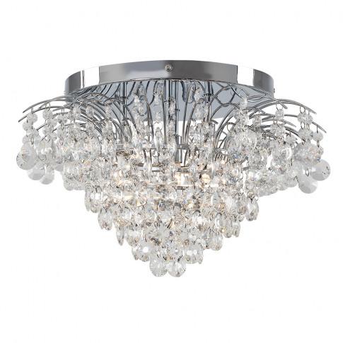 Iconic Garamond K9 Crystal Ceiling Light In Chrome