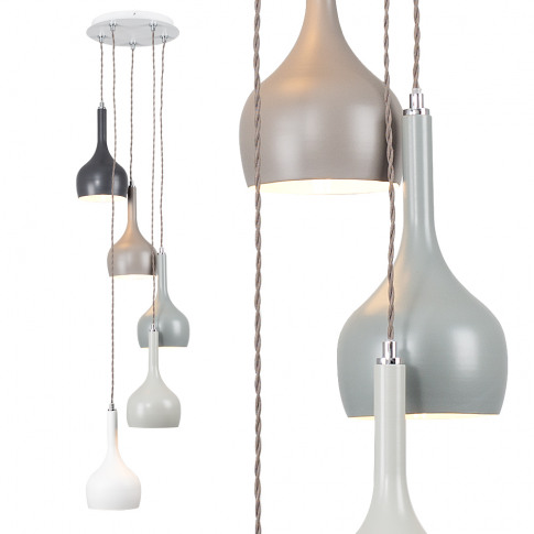 Iconic Pritchard 5-Way Ceiling Light In Multi-Coloured