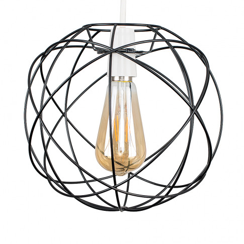Rutherford Matt Black Pendant Shade