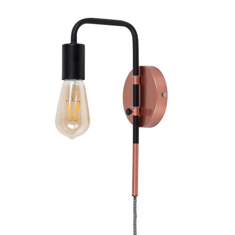 Holden Black And Copper Swing Arm Wall Light