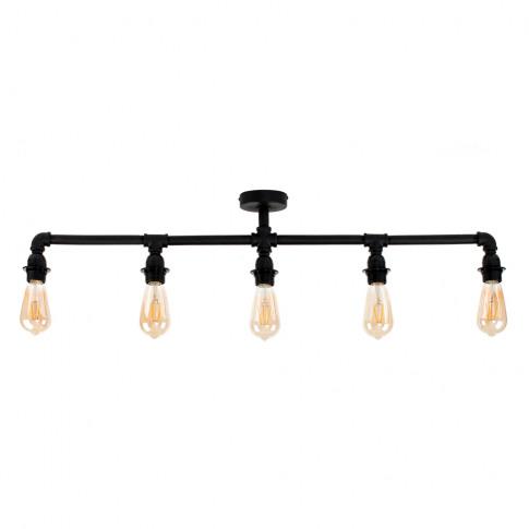 Luiggi Steampunk 5 Way Bar Ceiling Light In Black