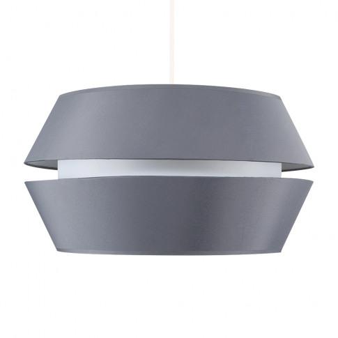 Haakon Dual Taper Pendant Shade In Grey