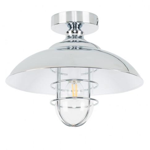 Mitchell Polished Chrome Semi-Flush Ceiling Light