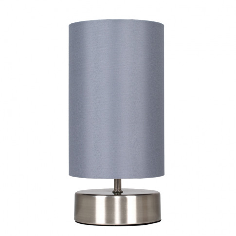 Francis Touch Table Lamp In Brushed Chrome With Grey...