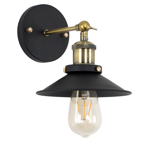 Colonial Steampunk Wall Light In Black And Antique B...