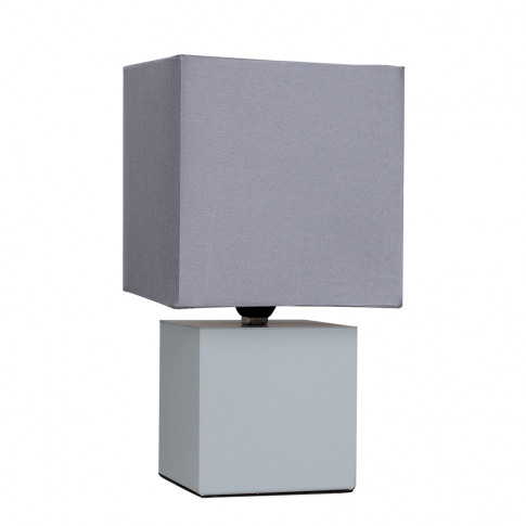 Cubbie Grey Touch Table Lamp With Grey Shade