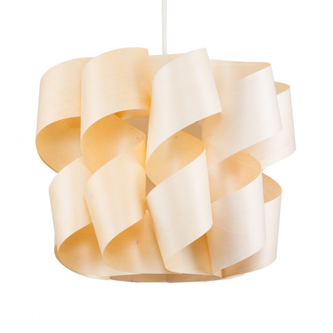 Hailee Twist Pendant Shade In Wood Finish