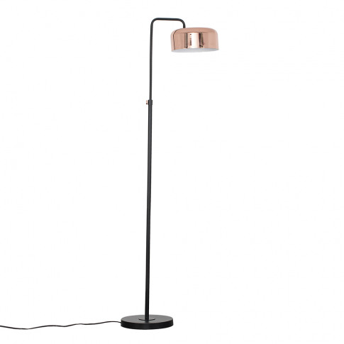 Iconic Fiske Floor Lamp In Copper And Black