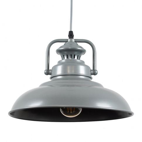 Duomo Industrial Pendant Ceiling Light In Grey