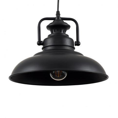 Duomo Industrial Pendant Ceiling Light In Black