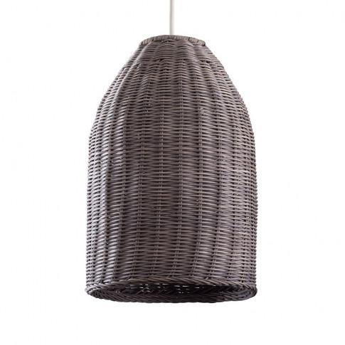 Chianti Wicker Pendant Shade In Grey