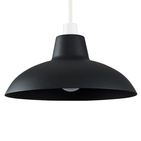 Civic Matt Black Metal Pendant Shade