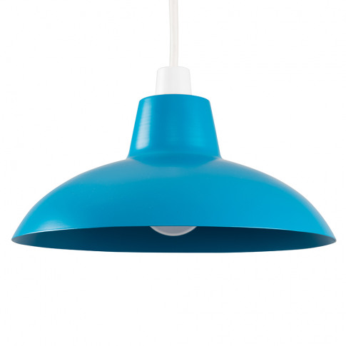 Civic French Blue Metal Pendant Shade