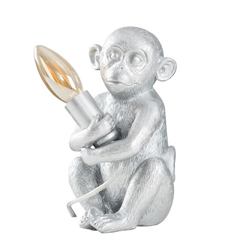 Baby Georgina Monkey Table Lamp In Silver