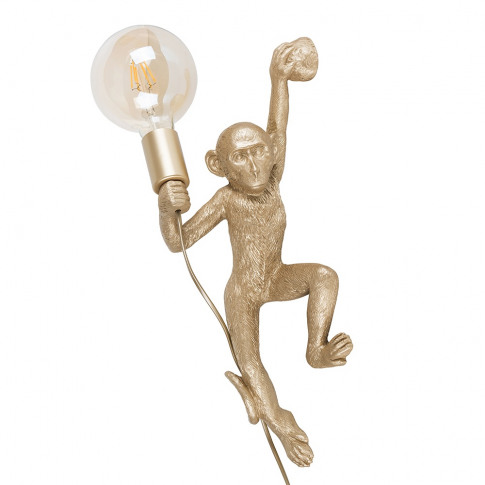 George Monkey Wall Light In Gold