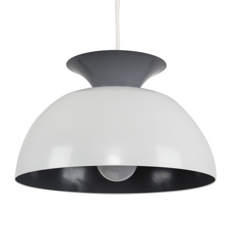 Kayla Two Tone Pendant Shade In Dark And Light Grey